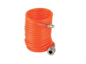 Wąż pneumatyczny spiralny + złączki VILLAGER 5m.
