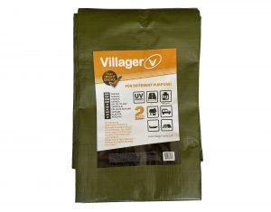 Plandeka zoczkami VILLAGER 150g/m2, 4 x 6m