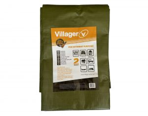 Plandeka zoczkami VILLAGER 150g/m2, 2 x 3m